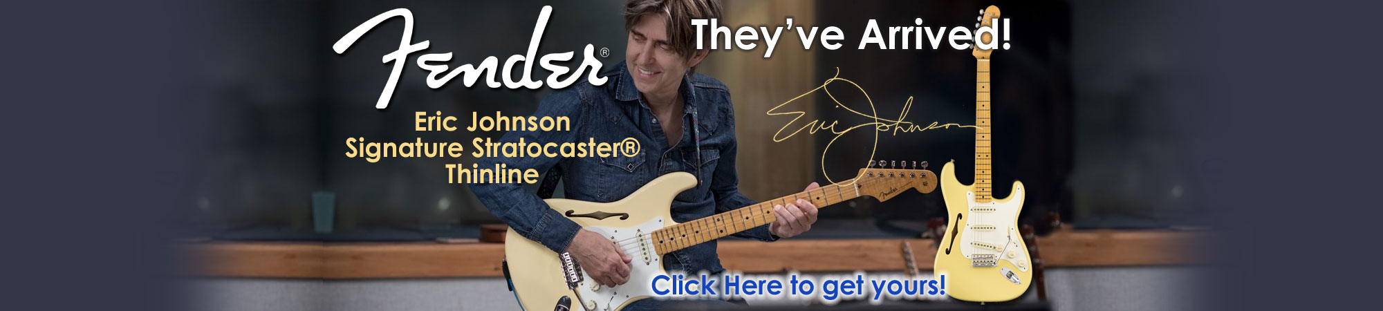 Fender Eric Johnson Signature Strat Thinline Preorder